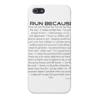 I Run Because iPhone SE/5/5s Cover
