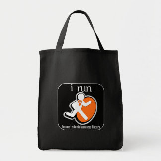 i Run Because Leukemia Matters Canvas Bags
