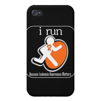 i Run Because Leukemia Matters Case For iPhone 4