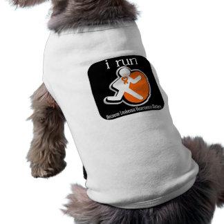 i Run Because Leukemia Matters Doggie Tee