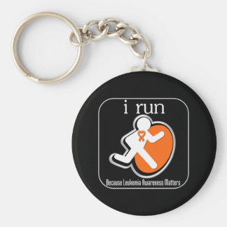 i Run Because Leukemia Matters Key Chains