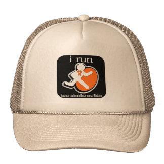 i Run Because Leukemia Matters Mesh Hats