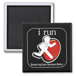 i Run Because Lung Cancer Matters Magnets
