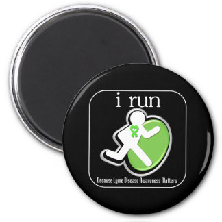 i Run Because Lyme Disease Matters 2 Inch Round Magnet