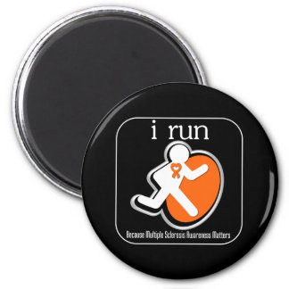 i Run Because Multiple Sclerosis Matters 2 Inch Round Magnet