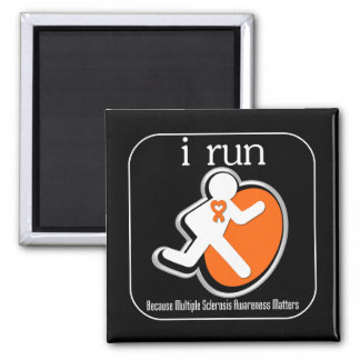 i Run Because Multiple Sclerosis Matters 2 Inch Square Magnet
