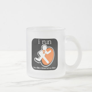 i Run Because Multiple Sclerosis Matters 10 Oz Frosted Glass Coffee Mug