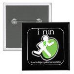 i Run Because Non-Hodgkin's Lymphoma Matters Pinback Buttons