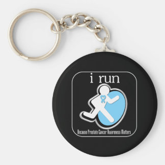 i Run Because Prostate Cancer Matters Key Chains
