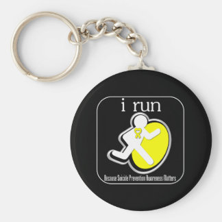 i Run Because Suicide Prevention Matters Keychains