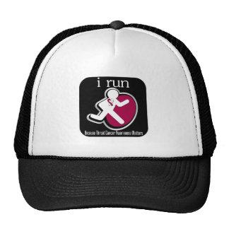 i Run Because Throat Cancer Matters Trucker Hat