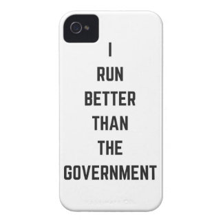 I Run Better Than The Government Text Design Humor iPhone 4 Case-Mate Case
