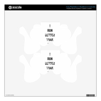 I Run Better Than The Government Text Design Humor PS3 Controller Decal