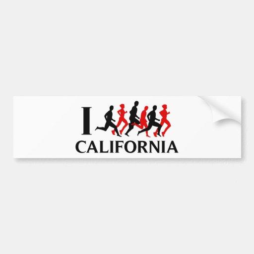 I RUN CALIFORNIA BUMPER STICKER