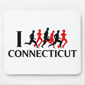 I RUN CONNECTICUT MOUSE PAD