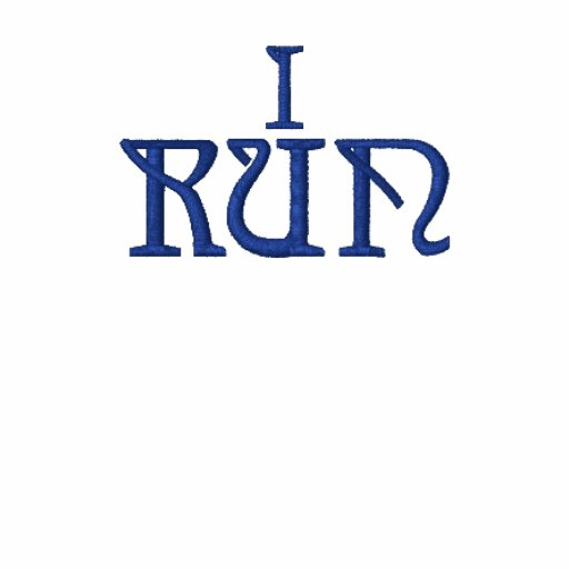 I Run Cross Country Embroidered Shirt