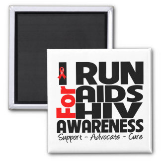 I Run For AIDS HIV Awareness Magnet