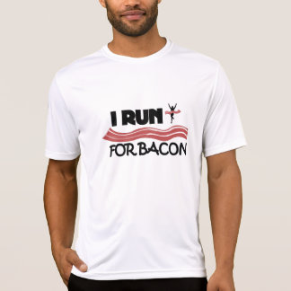 I Run For Bacon - Fitted Double-Dry Running Shirt
