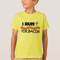 I Run for Bacon - Funny Running Shirt for Kids