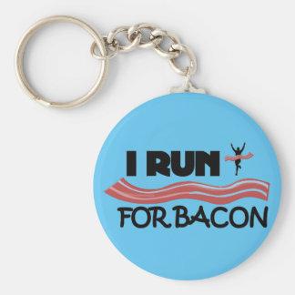 I Run for Bacon Keychain