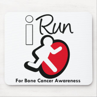 I Run For Bone Cancer Awareness Mouse Mat