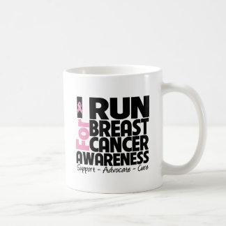 I Run For Breast Cancer Awareness Coffee Mug