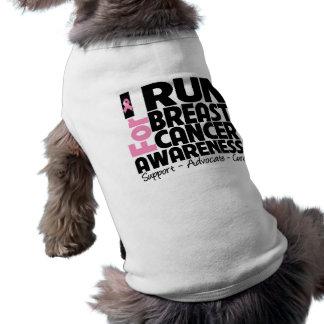 I Run For Breast Cancer Awareness Doggie T-shirt