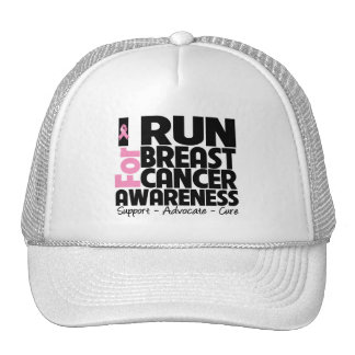 I Run For Breast Cancer Awareness Mesh Hats