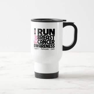 I Run For Breast Cancer Awareness Mug