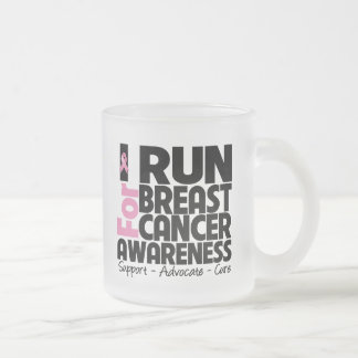 I Run For Breast Cancer Awareness Mugs
