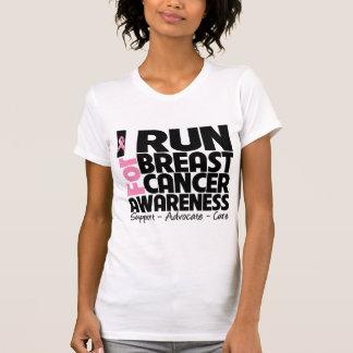 I Run For Breast Cancer Awareness T Shirt