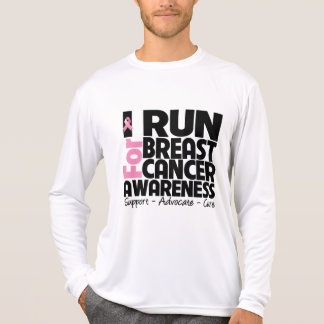 I Run For Breast Cancer Awareness T Shirt