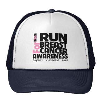I Run For Breast Cancer Awareness Trucker Hat