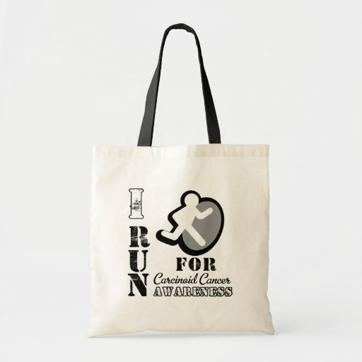 I Run For Carcinoid Cancer Awareness Tote Bags