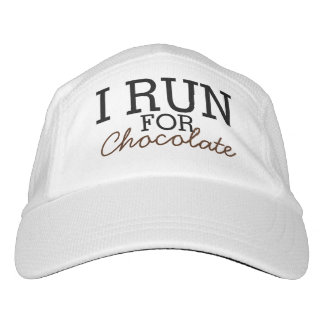 I Run For Chocolate Funny Customizable Running Headsweats Hat