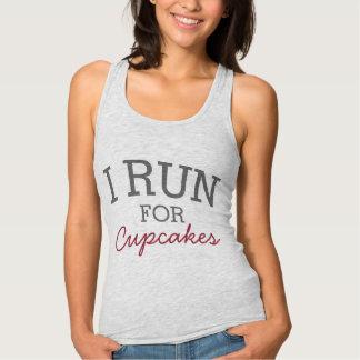 I Run For Cupcakes Funny Customizable Running Tank Top