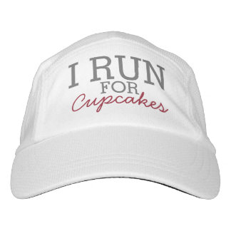 I Run For Cupcakes Funny Customizable Running Headsweats Hat