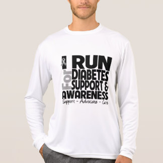 I Run For Diabetes Awareness T Shirts