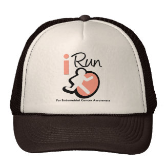 I Run For Endometrial Cancer Awareness Mesh Hats
