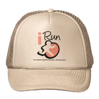 I Run For Endometrial Cancer Awareness Trucker Hats