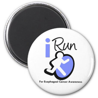 I Run For Esophageal Cancer Awareness 2 Inch Round Magnet