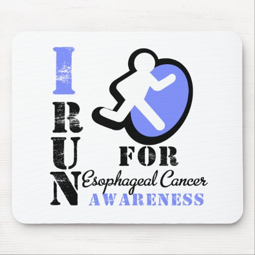 I Run For Esophageal Cancer Awareness Mouse Pad