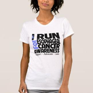 I Run For Esophageal Cancer Awareness Tee Shirt