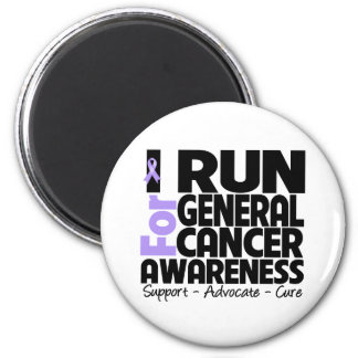 I Run For General Cancer Awareness 2 Inch Round Magnet