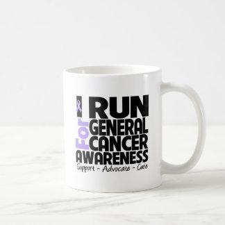 I Run For General Cancer Awareness Classic White Coffee Mug