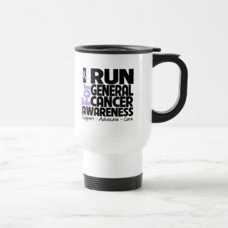 I Run For General Cancer Awareness 15 Oz Stainless Steel Travel Mug