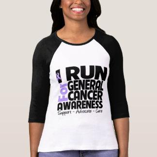 I Run For General Cancer Awareness T Shirt