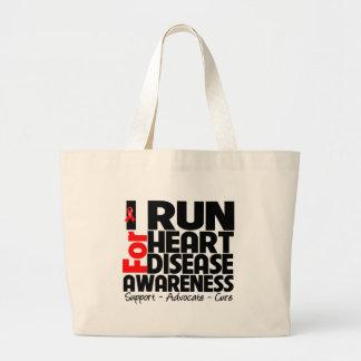 I Run For Heart Disease Awareness Canvas Bag