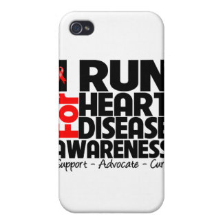 I Run For Heart Disease Awareness Cover For iPhone 4