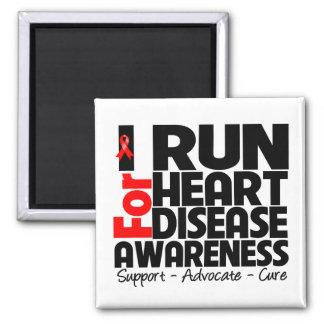 I Run For Heart Disease Awareness Refrigerator Magnet